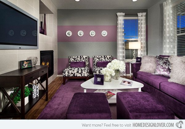 Purple Wall Decor Living Room 15 Catchy Living Room Designs with Purple Accent Living