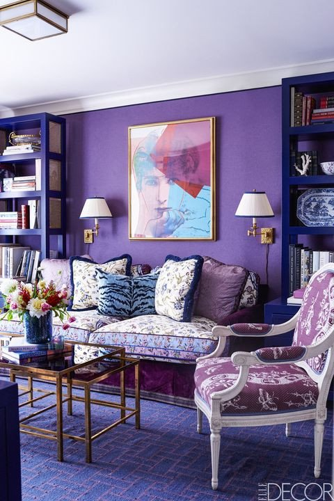Purple Wall Decor Living Room 21 Best Purple Rooms & Walls Ideas for Decorating with