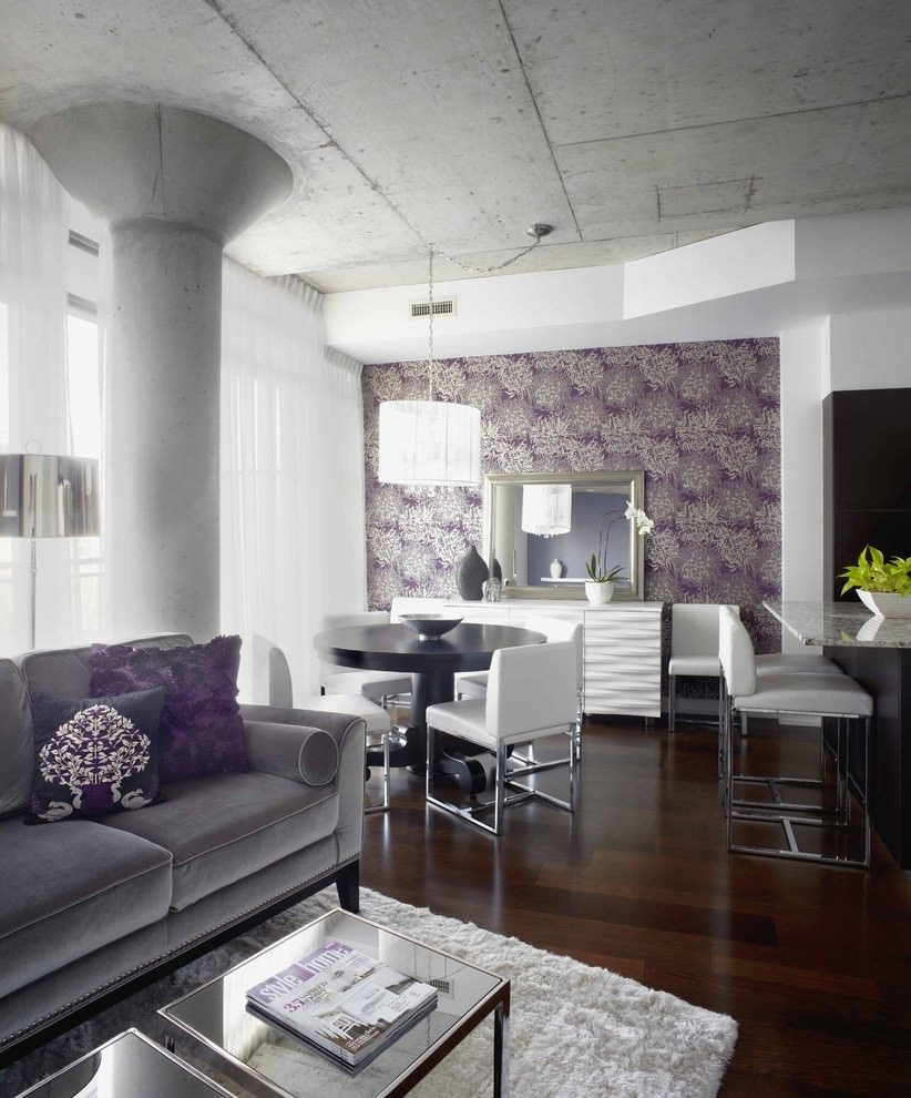 Purple Wall Decor Living Room 23 Purple Dining Room Designs Decorating Ideas
