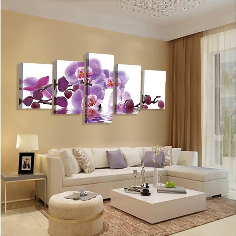 Purple Wall Decor Living Room Aliexpress Buy No Frame Wall Art Home Decor Purple