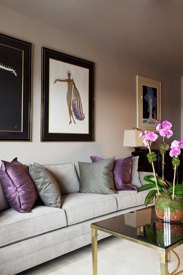 Purple Wall Decor Living Room How to Use Purple In Stunning Looking Living Rooms