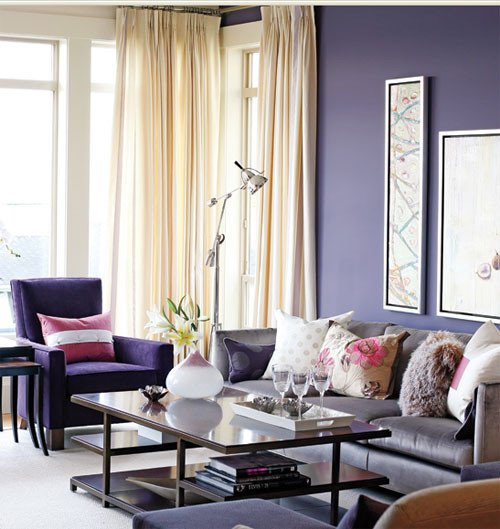 Purple Wall Decor Living Room Pet Friendly Home Decor – Color therapy Part 9 Indigo