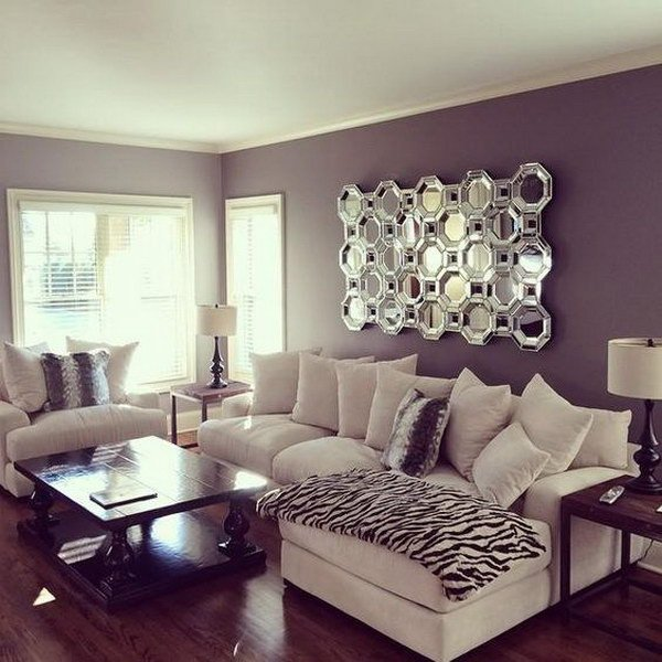 Purple Wall Decor Living Room Pretty Living Room Colors for Inspiration Hative