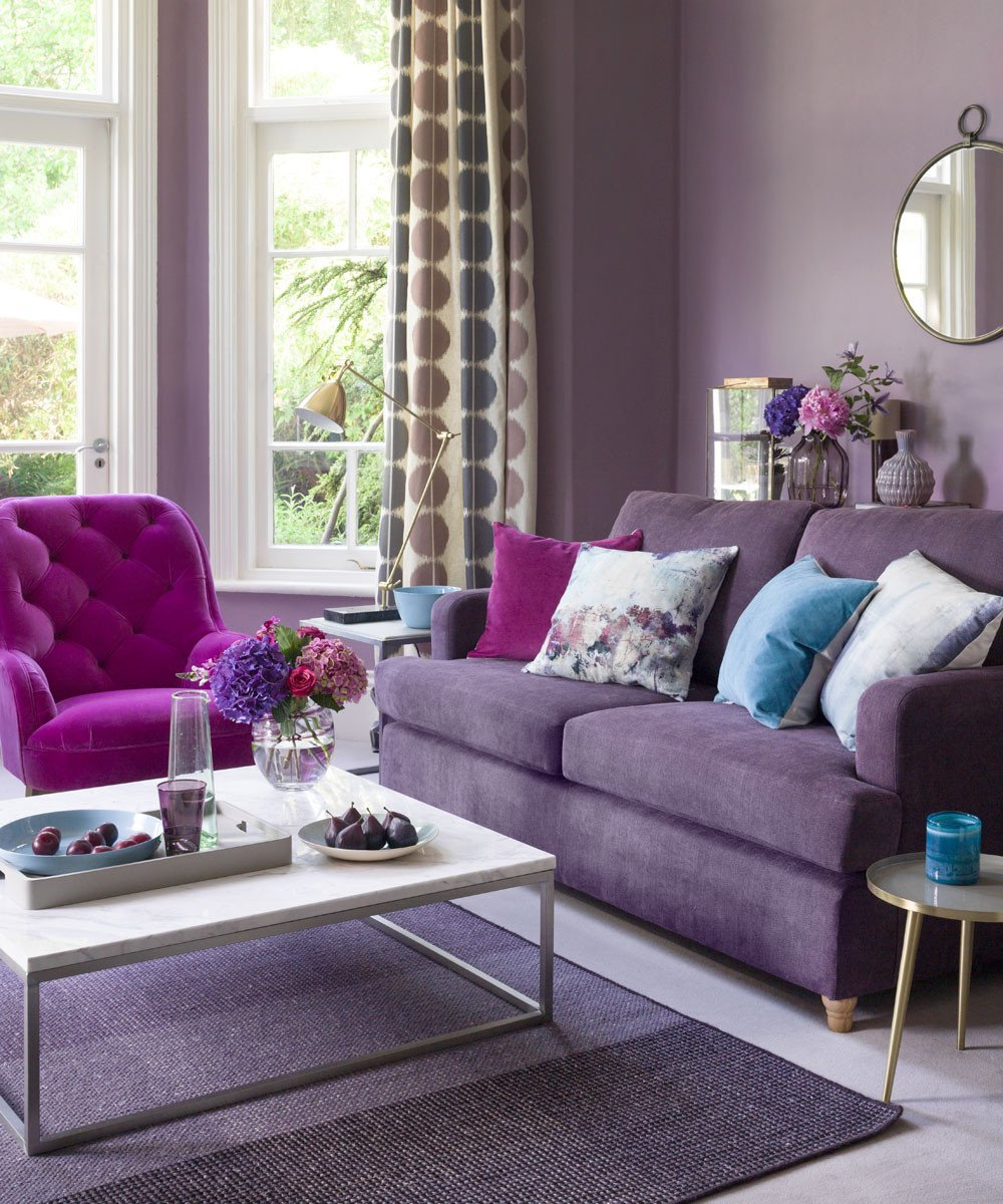 Purple Wall Decor Living Room Purple Living Room Ideas