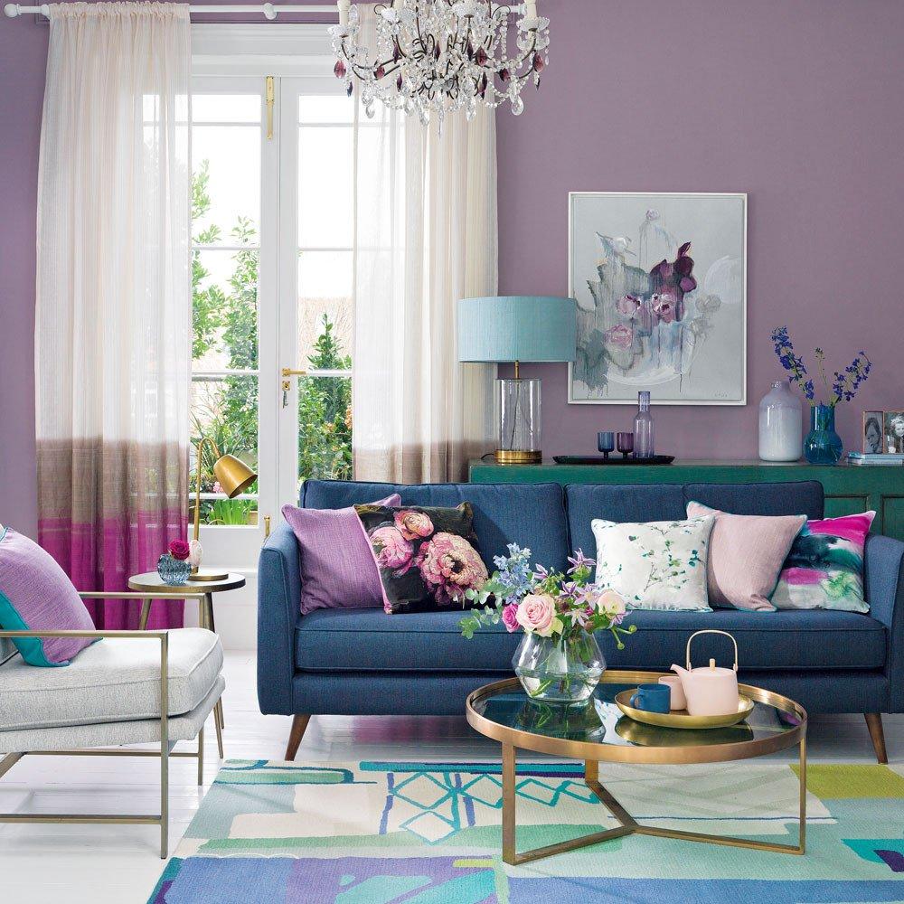Purple Wall Decor Living Room Purple Living Room Ideas