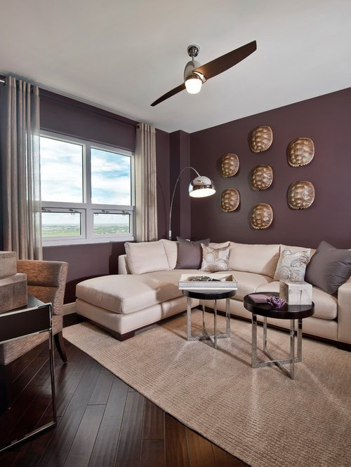 Purple Wall Decor Living Room Purple Paint Home Design Ideas Remodel and Decor