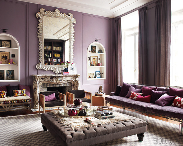 Purple Wall Decor Living Room Purple Passion Wednesday Glamorous Living Room Decor by