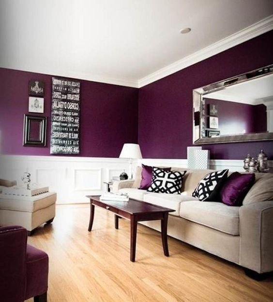 Purple Wall Decor Living Room Wonderful Purple Living Room themes Color Ideas Fabulous