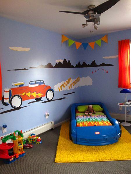 Race Car Bedroom Decor Josh S Rockin Race Car Room