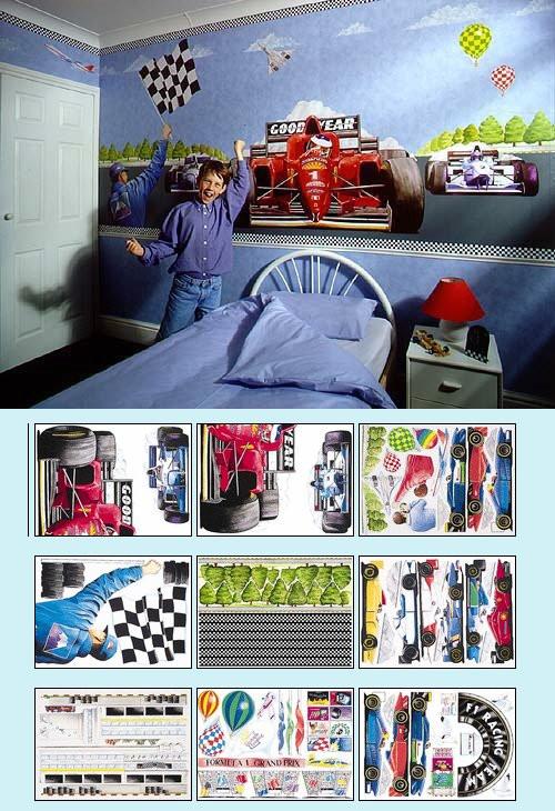Race Car Bedroom Decor Race Car Create A Wall Mural Kit Kids Wall Decor Store