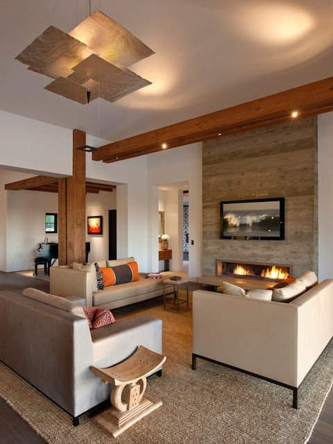 Ranch Style Living Room Ideas Hope Ranch Contemporary Contemporary Living Room