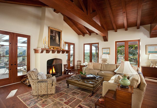 Ranch Style Living Room Ideas Hope Ranch Spanish Style Custom Home Family Room
