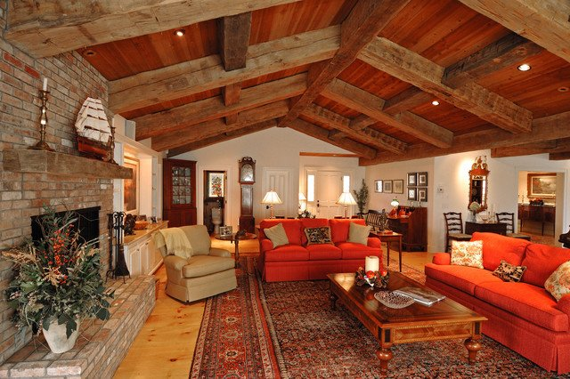 Ranch Style Living Room Ideas Ranch Style with Decorative Timbers Traditional Living