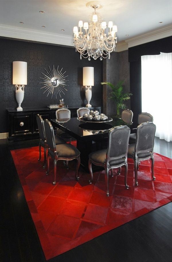 Red and Black Bedroom Decor 50 Dining Room Dеcor Ideas – How to Use Black Color In A