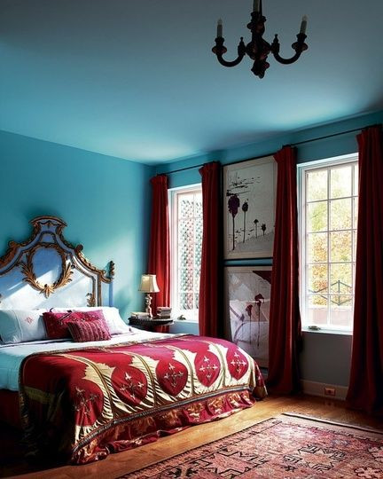 Red and Blue Bedroom 10 Unusual Color Bos that Really Work