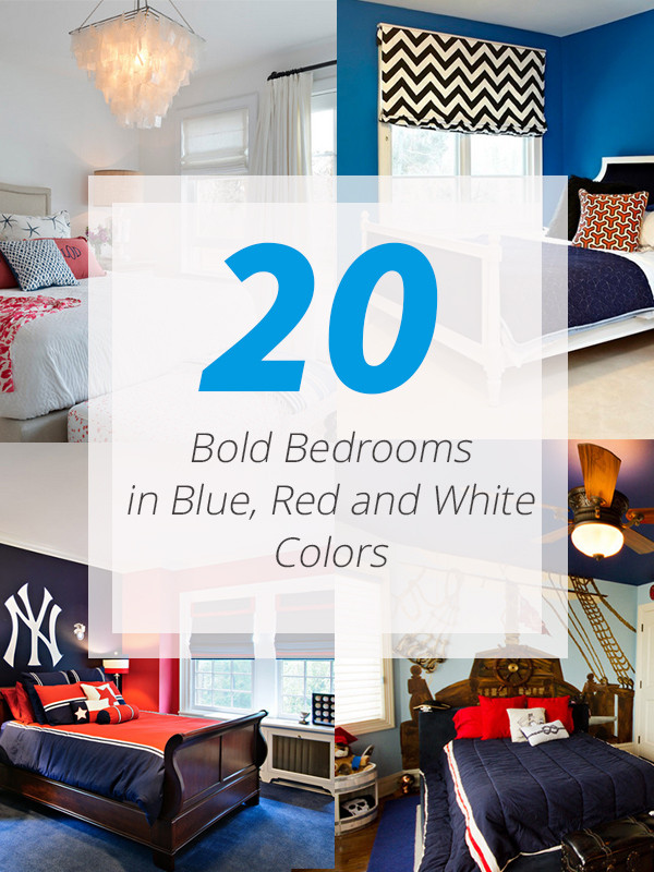 Red and Blue Bedroom 20 Bold Bedrooms In Blue Red and White Colors
