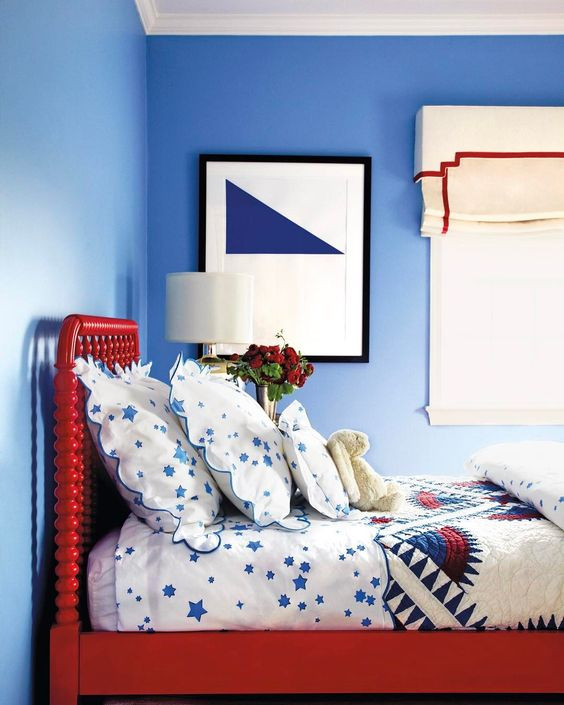 Red and Blue Bedroom 25 Ways to Incorporate Red Into Bedroom Decor
