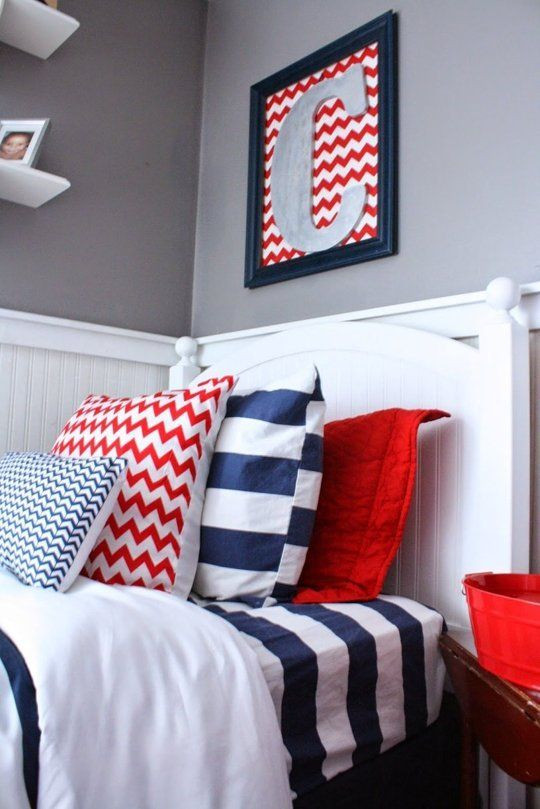 Red and Blue Bedroom A Red White & Blue Boys Room