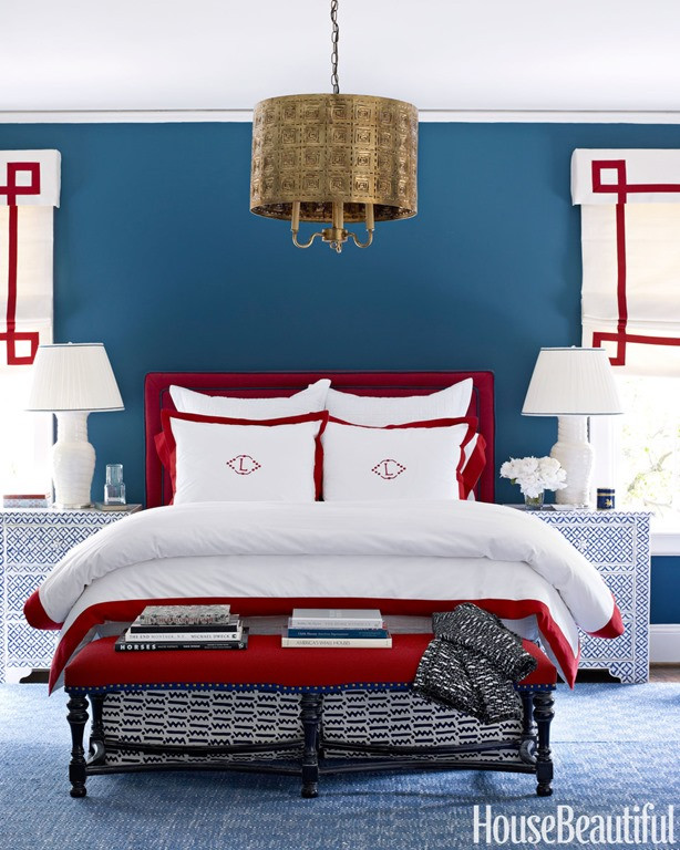 Red and Blue Bedroom Feature Friday Decorating with Red White and Blue