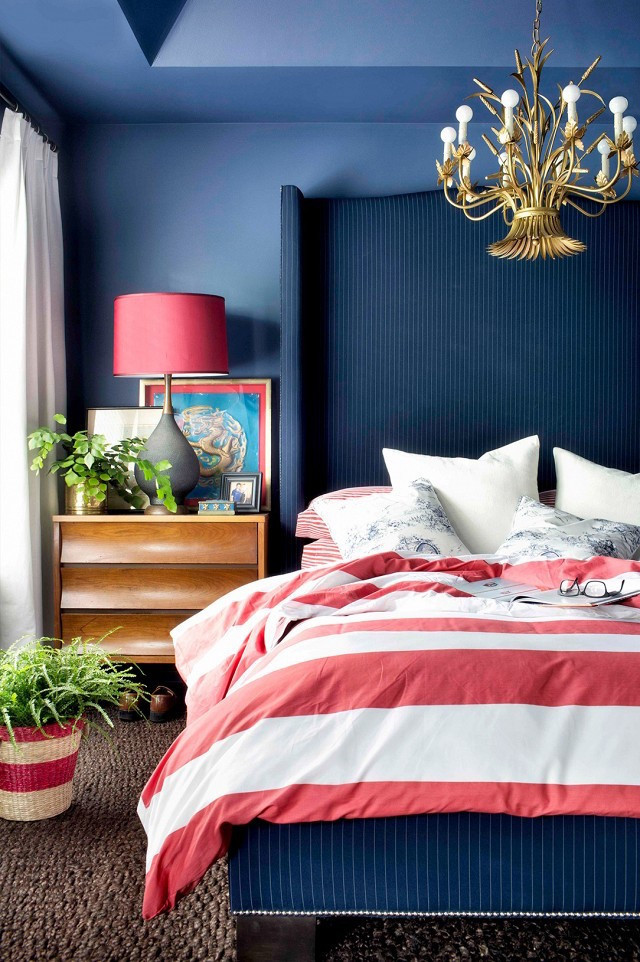 Red and Blue Bedroom Patriotic Inspiration Red White and Blue Home Decor