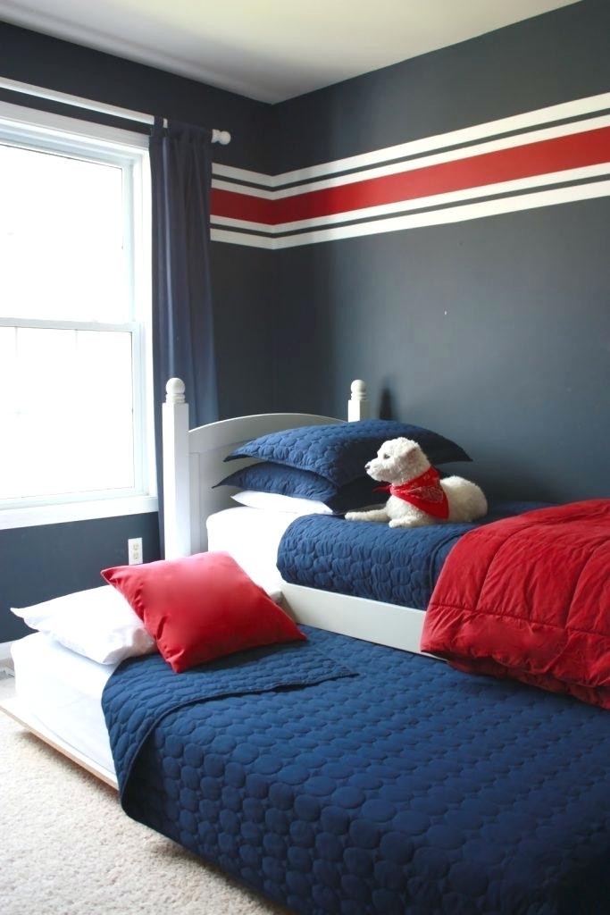 Red and Blue Bedroom Red and Grey Bedroom Red Blue and Grey Bedroom View Full