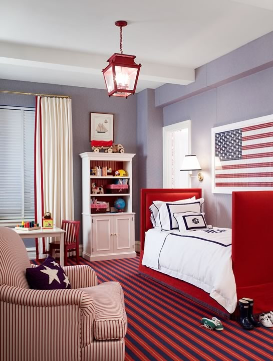 Red and Blue Bedroom Red White and Blue Interior Design