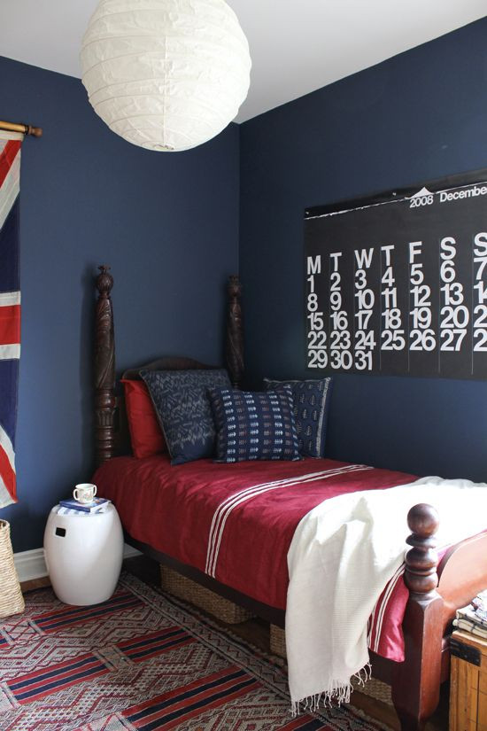Red and Blue Bedroom Room Decorating before and after Makeovers