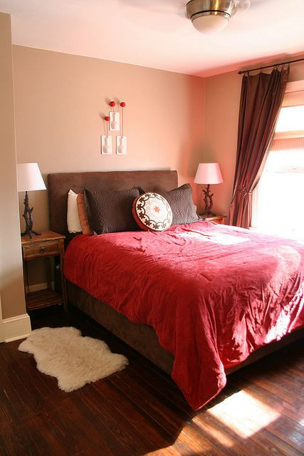 Red and Brown Bedroom Bedroom Light
