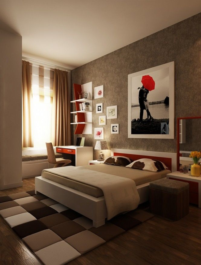 Red and Brown Bedroom Smart and Sassy Bedrooms