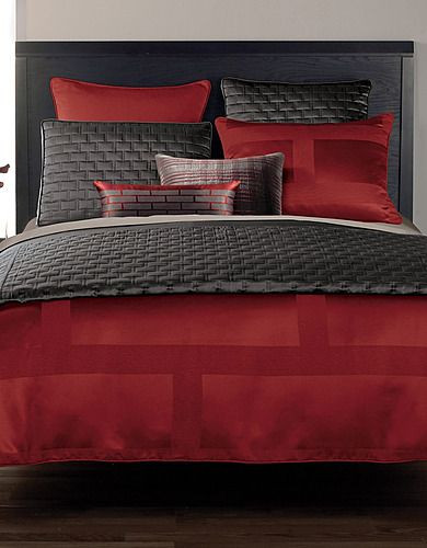 Red and Gray Bedroom Ideas I Love Grey and Red Beddings with Images