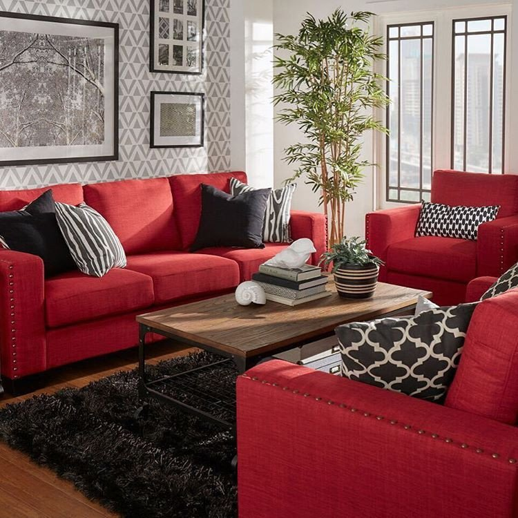 Red Couch Living Room Decor Bold Red Couches What A Statement Redcouch