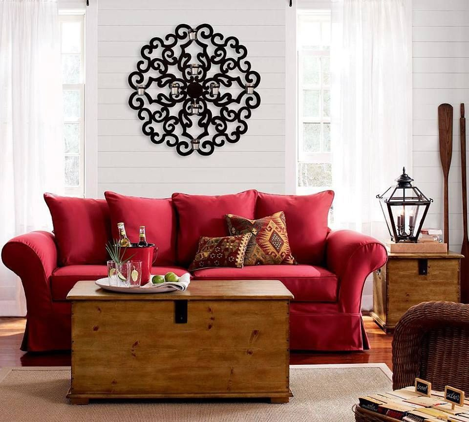 Red Couch Living Room Decor Red Couch In A Neutral Living Room Home