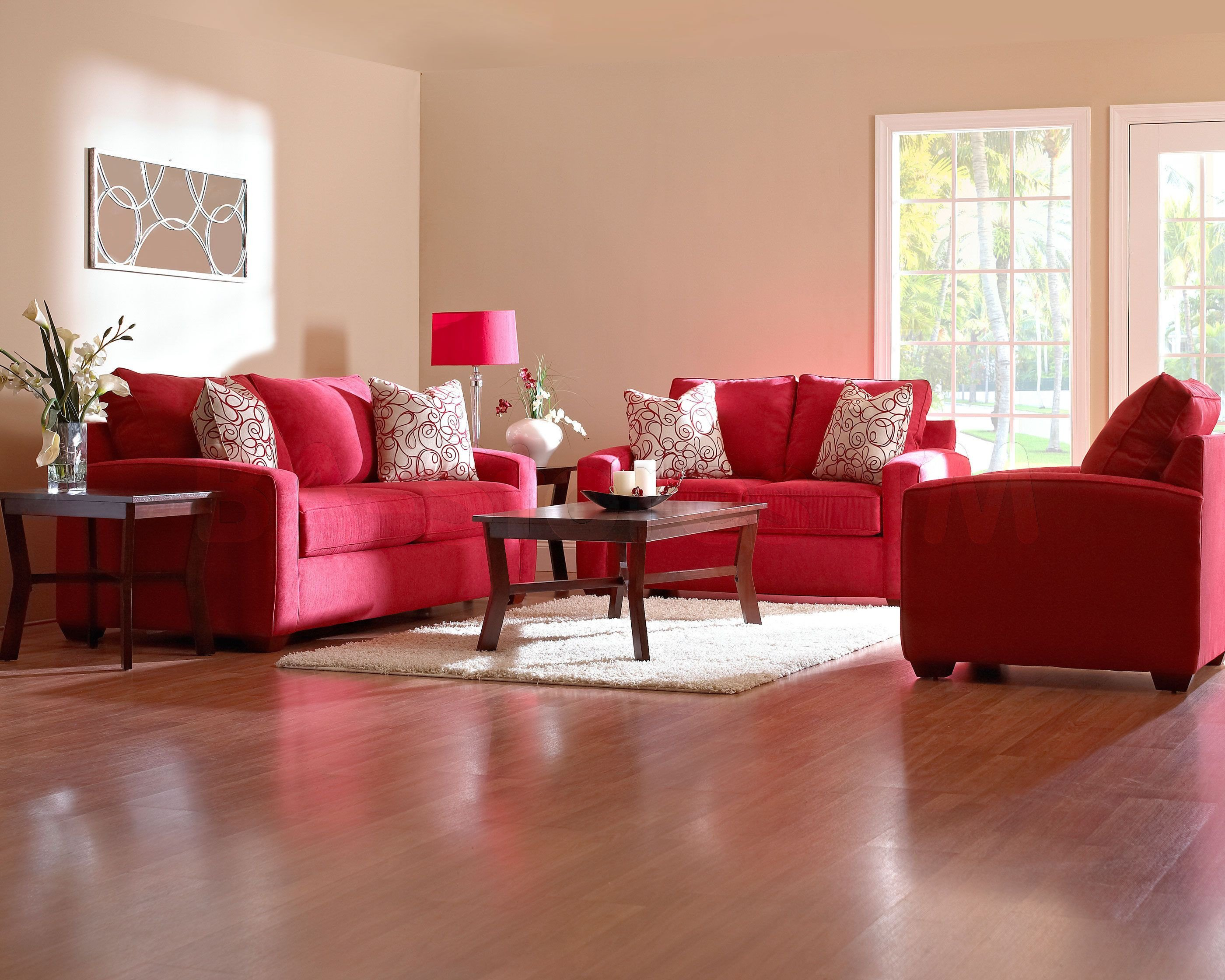 Red Couch Living Room Decor Red Furniture Decorating Ideas
