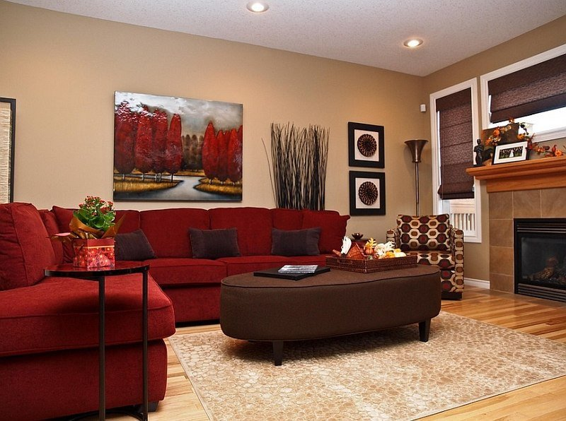 Red Couch Living Room Decor Red Living Rooms Design Ideas Decorations S