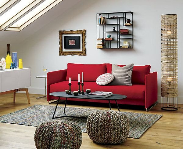 Red Couch Living Room Decor Small Cabin Decorating Ideas and Inspiration