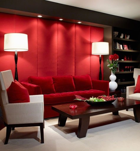 Red Decor for Living Room A Red Room Decorating with the Color Red