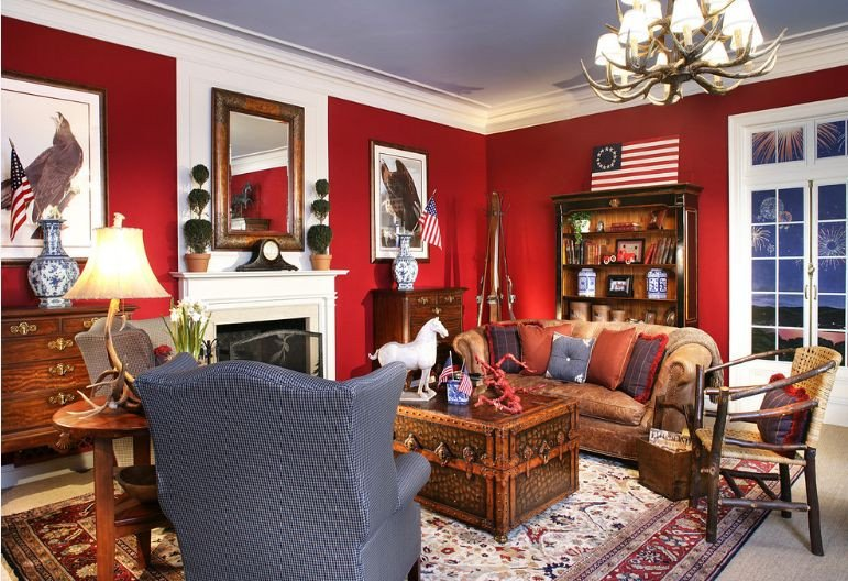 Red Decor for Living Room attractive Red and White Living Room Interior Designs