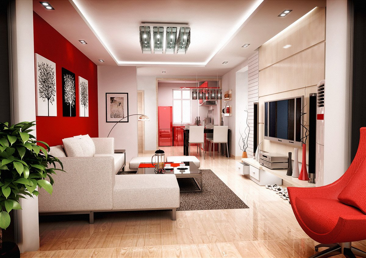 Red Decor for Living Room Colors for Living Room