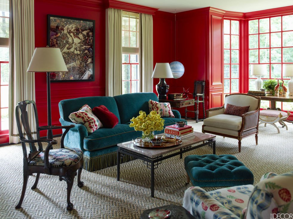 Red Decor for Living Room Energizing Colors to Decorate with This Sizzling Summer