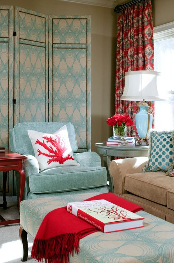 Red Decor for Living Room Powder Blue and Poppy Red Rooms Ideas and Inspiration