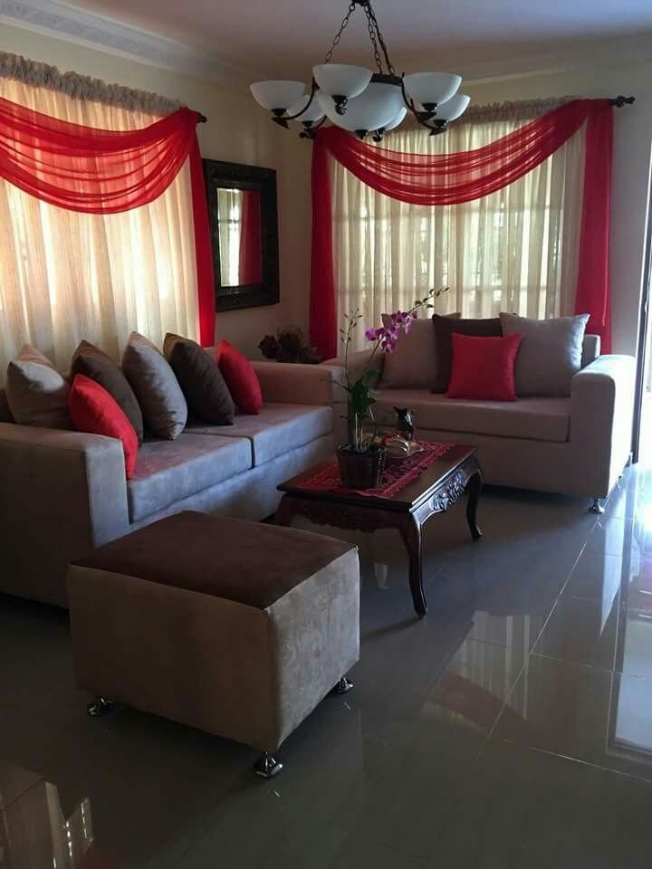 Red Decor for Living Room Red and Beige Living Room La Maison La Casa