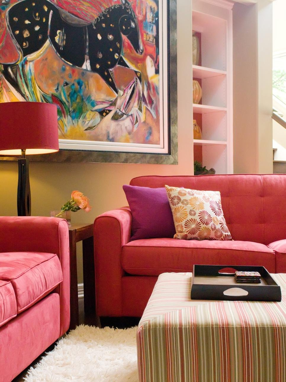 Red Decor for Living Room Vibrant Red sofas