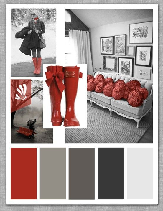 Red Grey and Black Bedroom Black Gray Pop Of Red