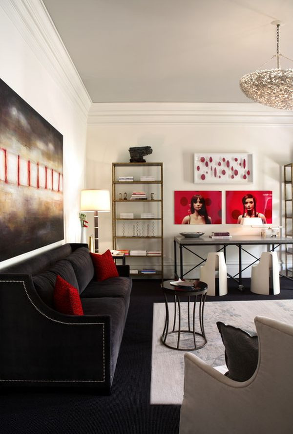 Red Grey and Black Bedroom Decorating with Red & Grey Ideas & Inspiration