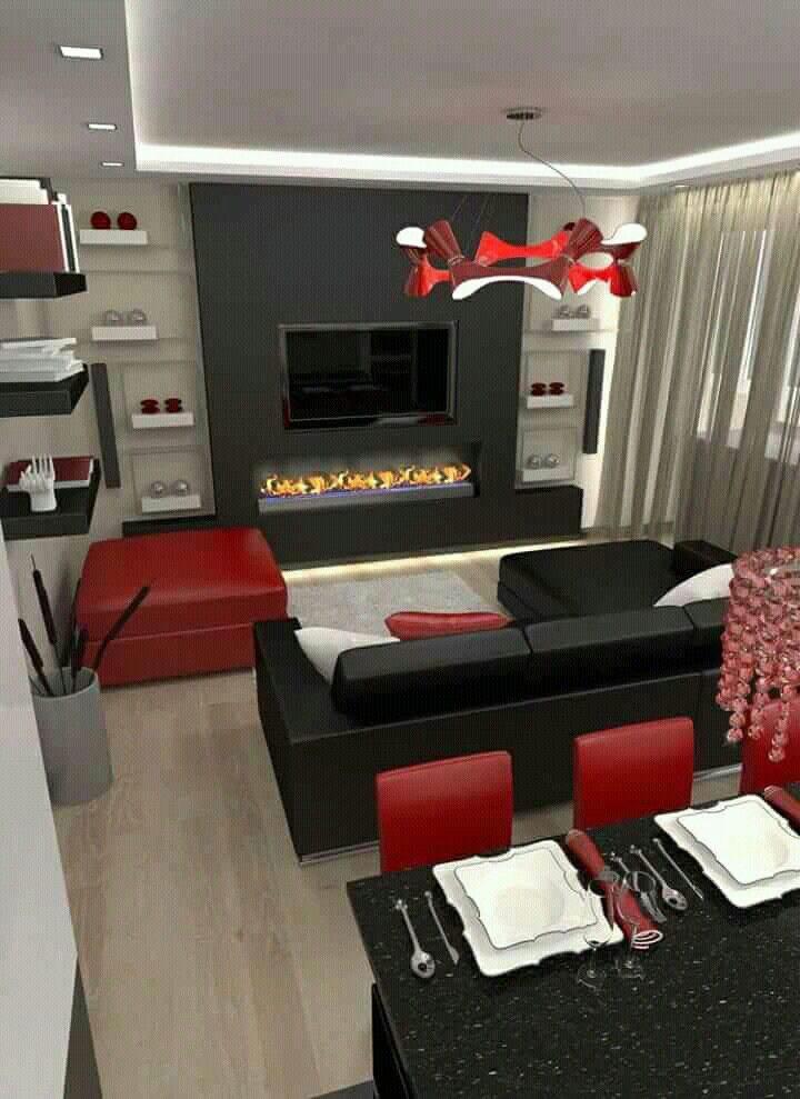 Red Grey and Black Bedroom Pin by Betsie Van Der Merwe On Int Lounge