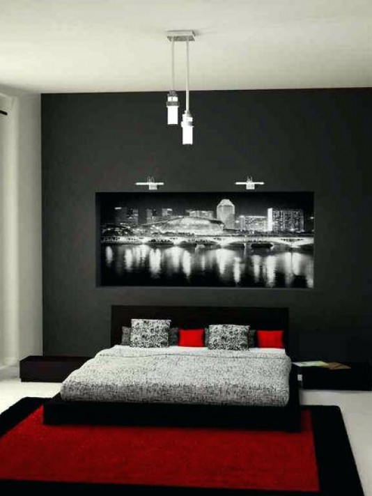 Red Grey and Black Bedroom Various Red Bedroom Ideas Best Bedrooms themes Black