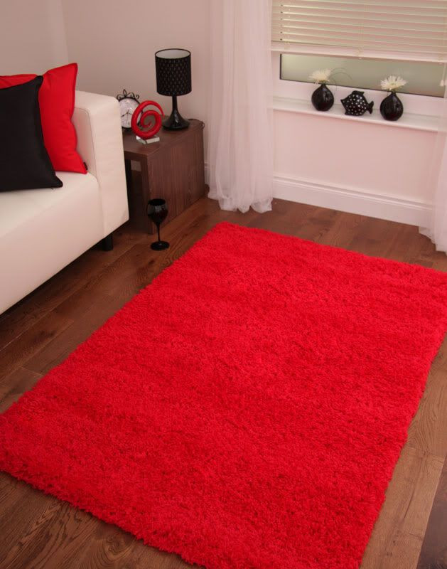 Red Rugs for Bedroom Details About Bright Post Box Red Shaggy Rug Small