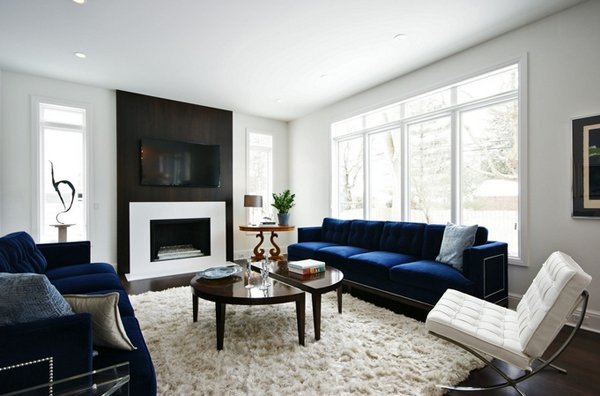 Royal Blue Living Room Decor 20 Impressive Blue sofa In the Living Room