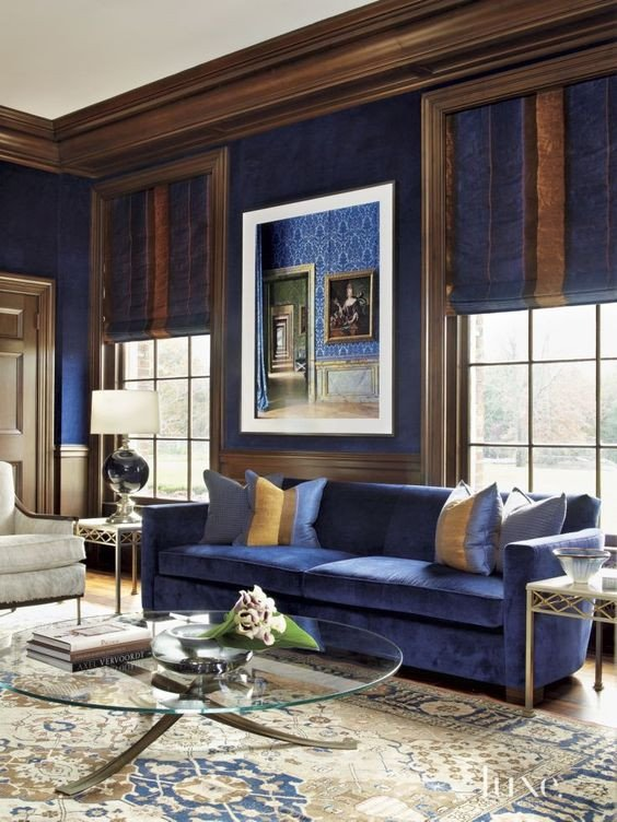 Royal Blue Living Room Decor 33 Cool Brown and Blue Living Room Designs Digsdigs
