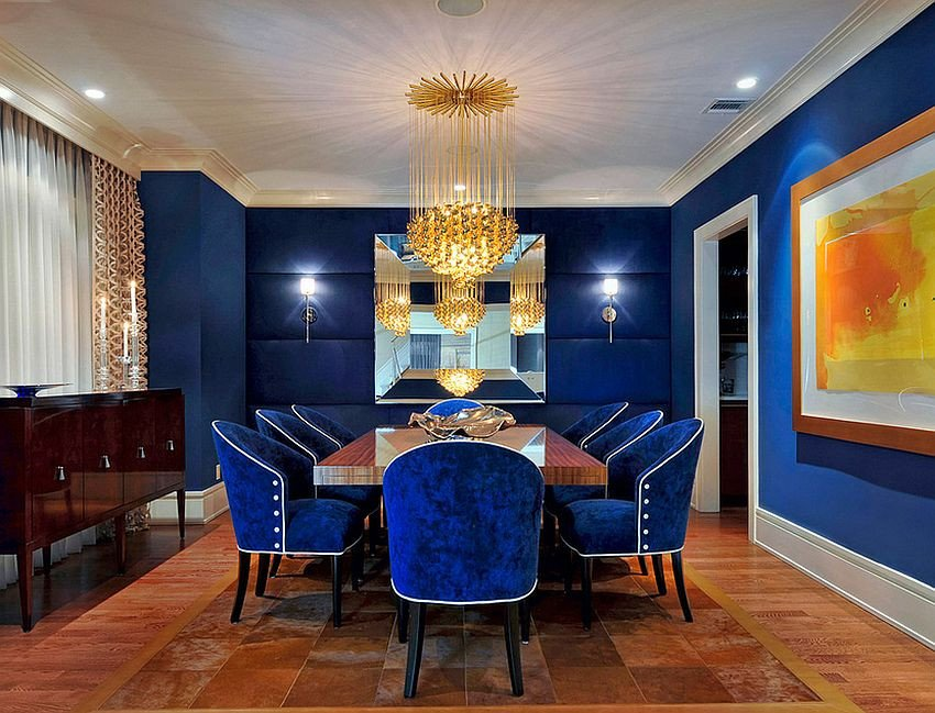 Royal Blue Living Room Decor Blue Dining Rooms 18 Exquisite Inspirations Design Tips